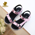 Hot Sale New Fashion Children Sandals Kids Girls Sequin Sandals Summer Boys Girl Pink Gold Silver Sandals Shoes Size 27-37