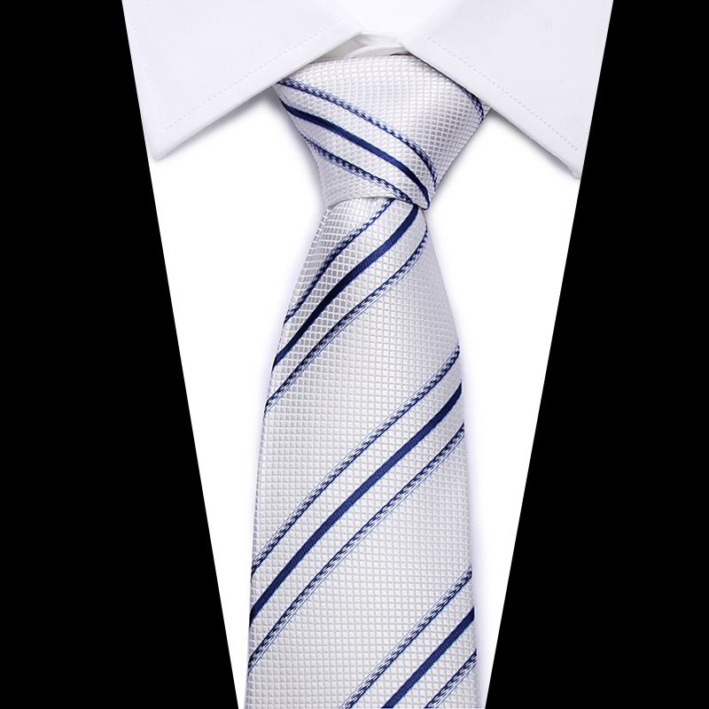 High Quality Man's Tie 8 Cm Skinny Ties  Wedding Dress Neckties For Men Striped  Cravate Business Pour Homme Rouge Slim 2018