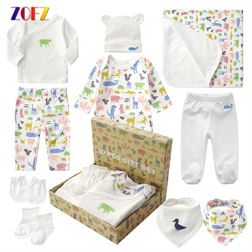 ZOFZ Infant Baby Suit Comfortable Newborn Clothing Soft Cotton Underwear Baby Clothing Set 10PCS/Lot Suitable For All Seasons jewelry for all seasons