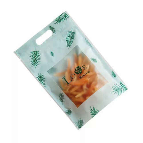 50 pcs Resealable Stand Up Bags Matte Plastic Zip Lock Bag Food Pouches Packaging Bags