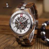 BOBO UCCELLO Meccanico orologi Da uomo Impermeabile automatico orologi Top Brand di Lusso orologi Da Polso orologi uomo automatico