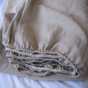 """French Linen Bed Sheet Set king Size Washed Flax Pure Linen Sheets Children Flax Bed Linen Fitted Sheets Bedcover 72""""x84""""x17"""""""