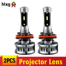 hlxg Universal Devil Eyes LED Projector Lens H11 LED Bulb HB4 H7 Motorcycle Car Headlight 9005 9006 projector lens headlights(China)