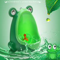 Children's baby toilet training cartoon big mouth frog urinal wall mounted boy standing toiletry best gift kindergarten urinal