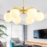 Скандинавский стеклянный глобус E14 Led люстра стеклянный глобус оттенки подвесная люстра освещение внутреннее освещение для спальни светил