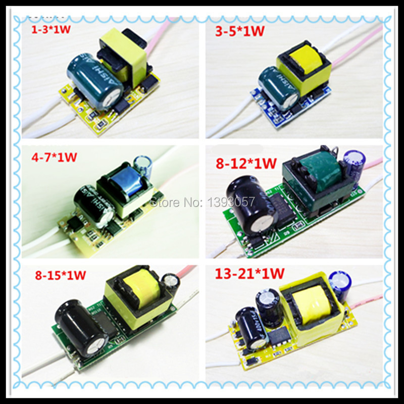 Wholesale Price for 20pcs 3w 5w 7w 9w 10w 12w 15w 18w 20w 21w LED lamp power driver . 300mA 0.3A. free shipping.