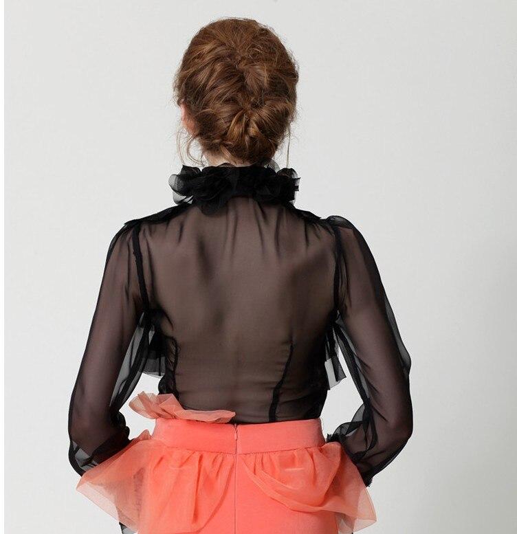 2018 High Neck Victorian Blouse Vintage Princess Royal Court Ruffles