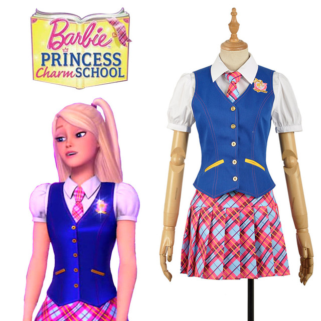 e91ff0ec115 Barbie  Princess Charm School Blair Willows Princess Sophia Cosplay Costume  Halloween Uniform Full Set Custom-made