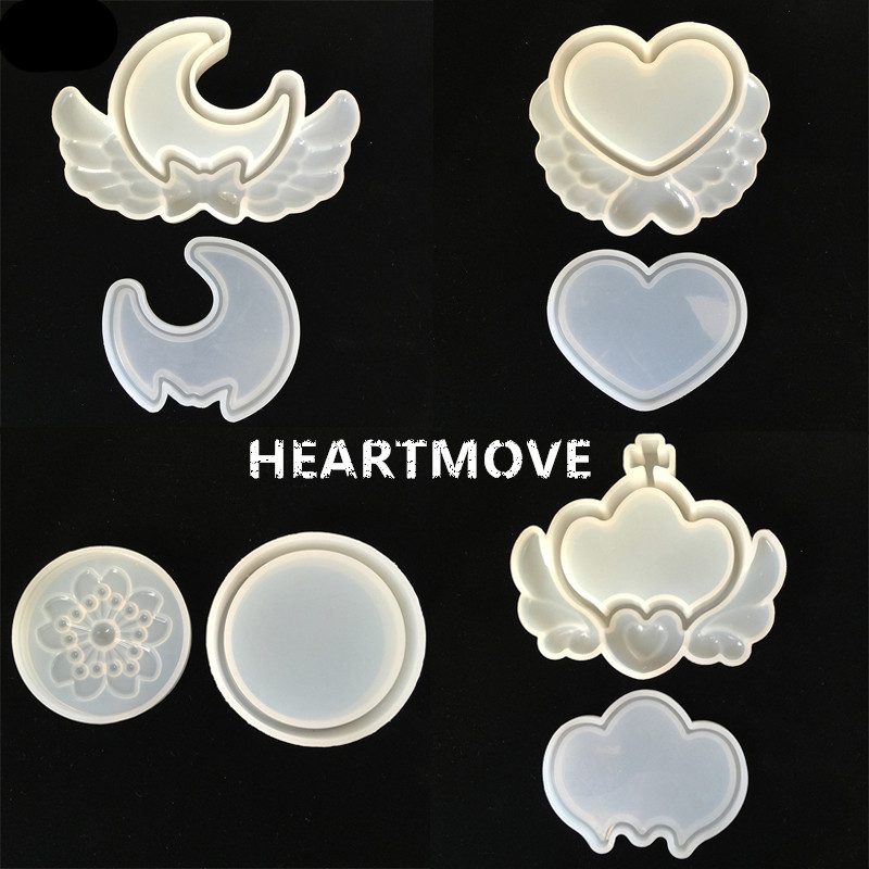 HEARTMOVE Gift Storage Box Moon Heart Crown Round Flower Silicone Mold Resin Molds DIY Epoxy Jewelry 9440