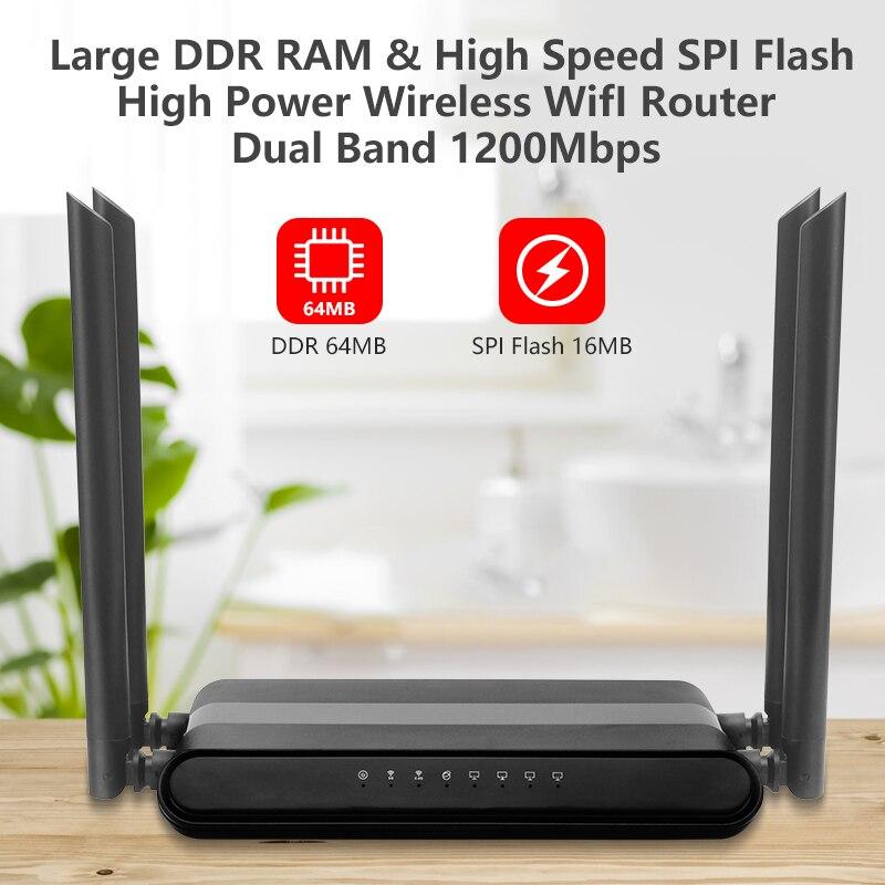 Cioswi 580 МГц MTK7628N чип 1200 Мбит/с двухдиапазонный беспроводной Wifi маршрутизатор стабильный и сильный Wifi сигнал с высоким коэффициентом усиления...