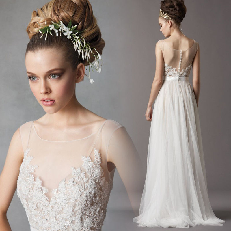Forest Style Fresh Elegant Lace Beach Wedding Dress 466 ...