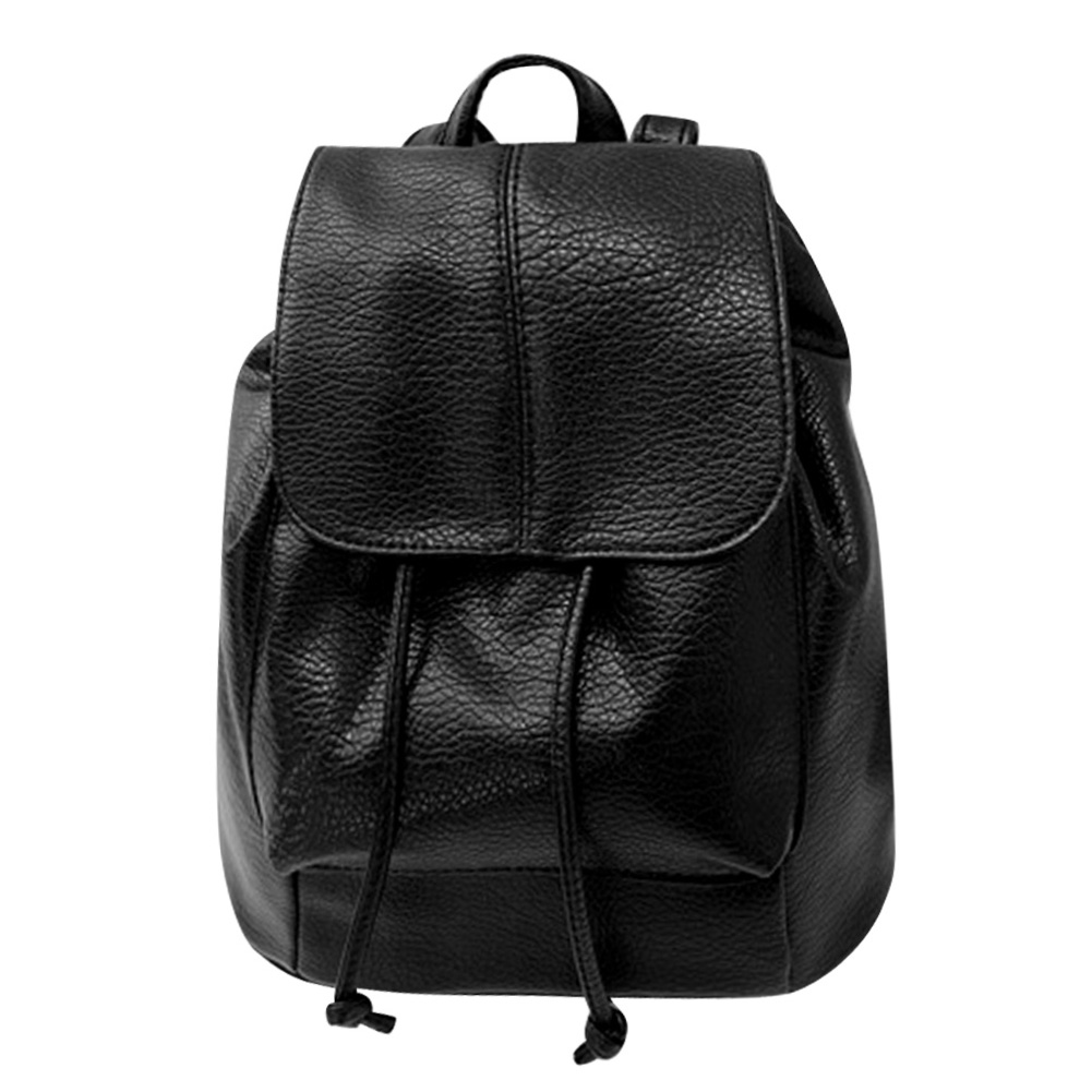 2017 Women Backpack PU Leather Black Shoulder School Bags For Teenagers Girls Female Casual Travel Bags Pack Mochilas Feminina women canvas backpacks school bags for teenagers girls preppy style travel shoulder bags kanken backpack mochilas feminina