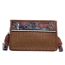 купить 618 Woven Rattan Bag Round Straw Shoulder Bag Small Beach HandBags Women Summer Hollow Handmade Messenger Crossbody Bags по цене 1089.6 рублей