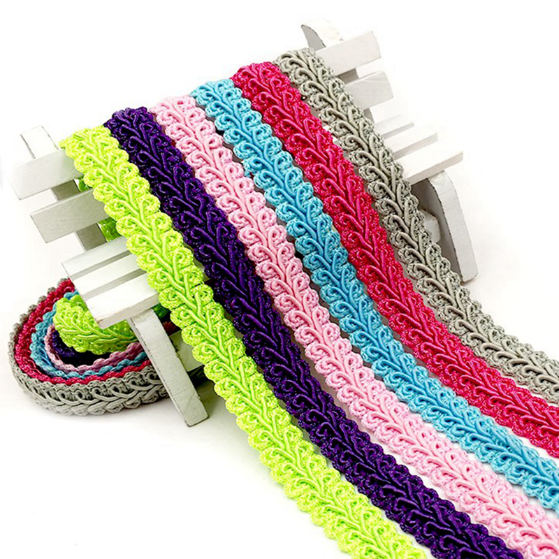 5Meter 12mm Curve Cotton Lace Trim Centipede Braided Ribbon Fabric Handmade DIY Clothes Sewing Supplies Craft Accessories