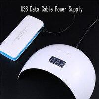 Nail Đèn Phototherapy Sạc USB 24 Wát LED UV Batter Gel May Mắn Nail Bán Ánh Sáng Nail Nail Máy Sấy