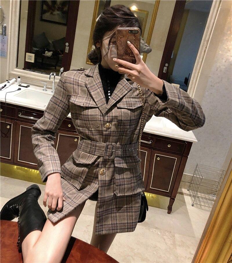 Europeo Modo Slim Giacche Office Di Delle Cintura Della Donne Con Giacca Nuovo Autunno Elegante Stile Giubbotti Multi Lady Vestito Molla nw4pwf7Pxq