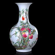 Hand Peach Home Furnishing Hotel Arts and Crafts Decoration Ceramic vase