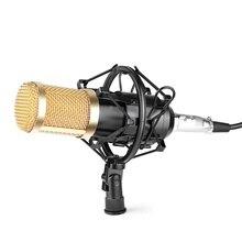 สตูดิโอมืออาชีพกระจายเสียงBM-800คอนเดนเซอร์เสียงสตูดิโอบันทึกเสียงกระจายเสียงไมโครโฟน+ช็อกเมาH Olderสีดำ