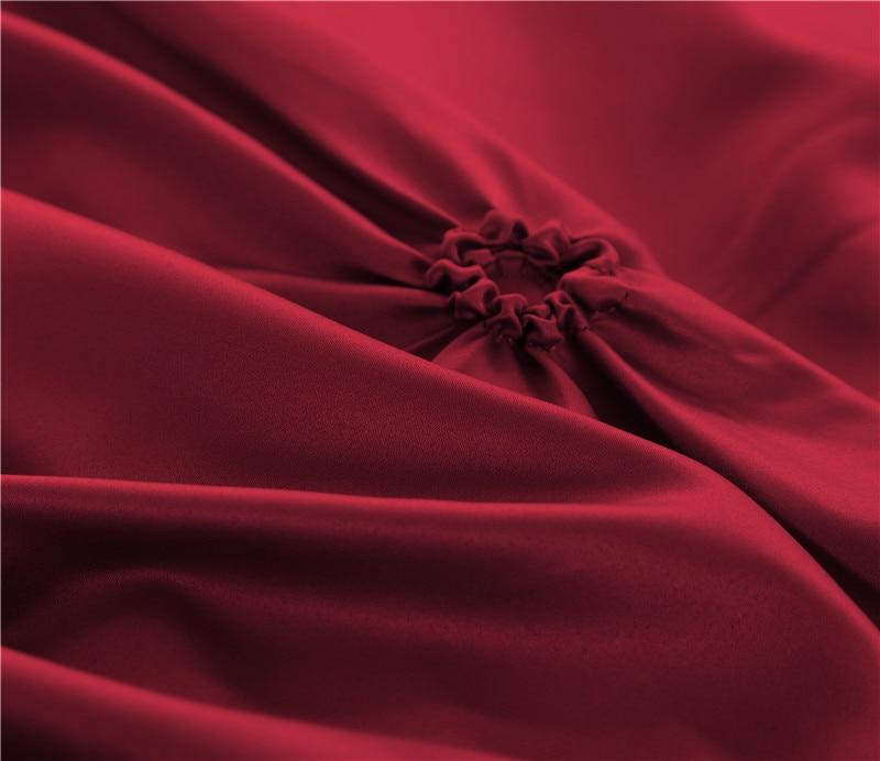 Coton soie 3D pull fleur de luxe ensemble de Literie roi reine taille royal de mariage lit ensemble 4/6 Pcs housse de couette lit/drap plat ensemble 28