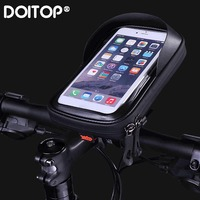 DOITOP 6.0 Inch Waterproof Bike Bicycle Mobile Phone Holder Stand Motorcycle Handlebar Mount Bag For Iphone X Samsung Lg Huawei|Phone Holders & Stands| |  -