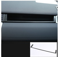 Carbon Style Car Passenger Side Dash Storage Box Trim Sticker Fit For Land Rover Discovery Sport