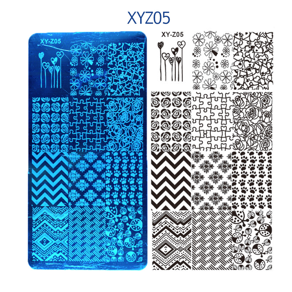 6 12cm 32 Design Nail Stamping Template 1Pc Nail Stamping Plates Lace Cartoon Animal Flowers Nail Art Decoration Polish Template in Nail Art Templates from Beauty Health