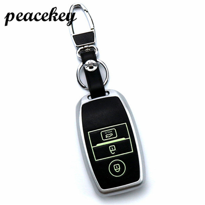 Peacekey leather Car Key Smart Case Cover Bag Keychain For Kia Rio K2 Ceed Sportage Soul Sorento Cerato Spectra Carens Accessori new styling leather car seat cover car cushion complete set for kia k4 k5 kia rio ceed cerato sportage optima maxima four season