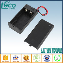 5pcs/lot 9V Battery Holder Battery Case Box with Cover and Swtich Wired TBH-9V-B-W(China)