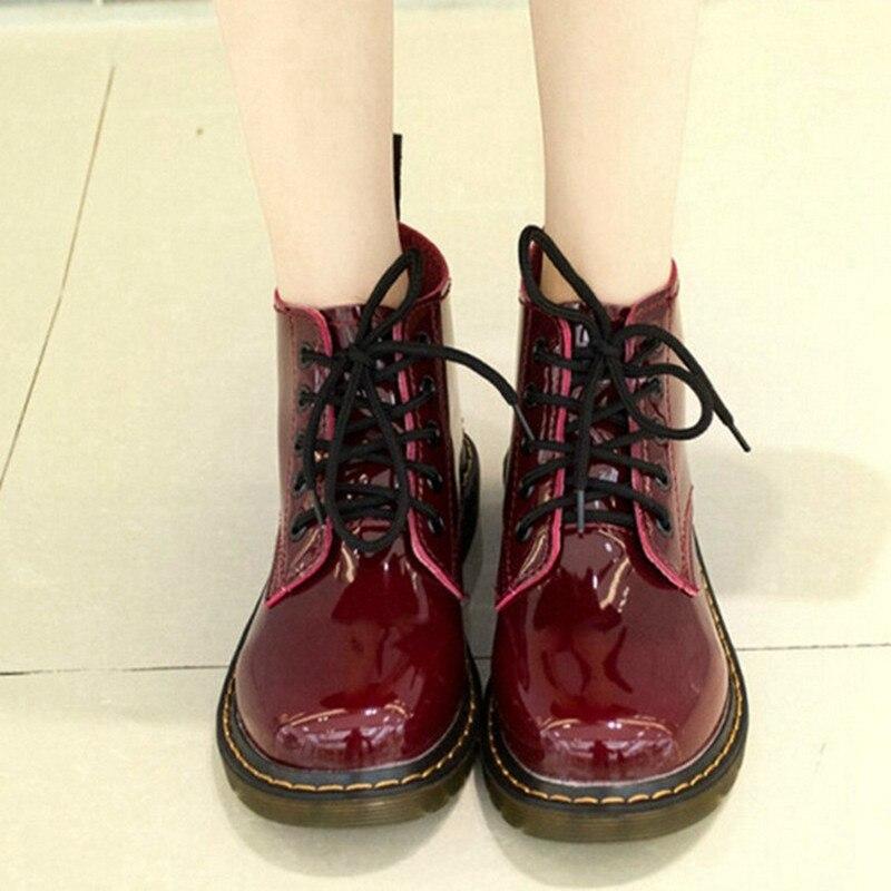 En Bottes Moto Cuculus Verni Pour argent Style Femmes Plus Lacent Noir Filles Noir Chaussures Cuir 1414 rouge Botas Rouge École Taille Cheville qcWqt4Ya
