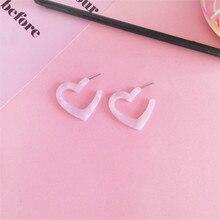 O envio gratuito de moda senhoras jóias sweet heart-shaped brincos meninas campus estudante fresco e simples acessórios