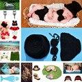 Últimas preto cor baby boy calças conjunto de malha de crochê chapéu gravata borboleta estilo gentleman infantil boy foto props 1 conjunto mzs-15021
