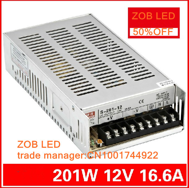 201W LED <font><b>Switching</b></font> <font><b>Power</b></font> <font><b>Supply</b></font>,85-265AC input,<font><b>40A</b></font>/16.5A/8.3A/4.2A ,For LED Strip light, <font><b>power</b></font> suply 5V/12V Output image