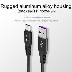 HOCO Original 5A Schnell Ladegerät Kabel USB Typ-C Für Huawei Mate 10 9 P10 Ladekabel Für QC 3,0 Ladegerät USB C Typ-C Kabel