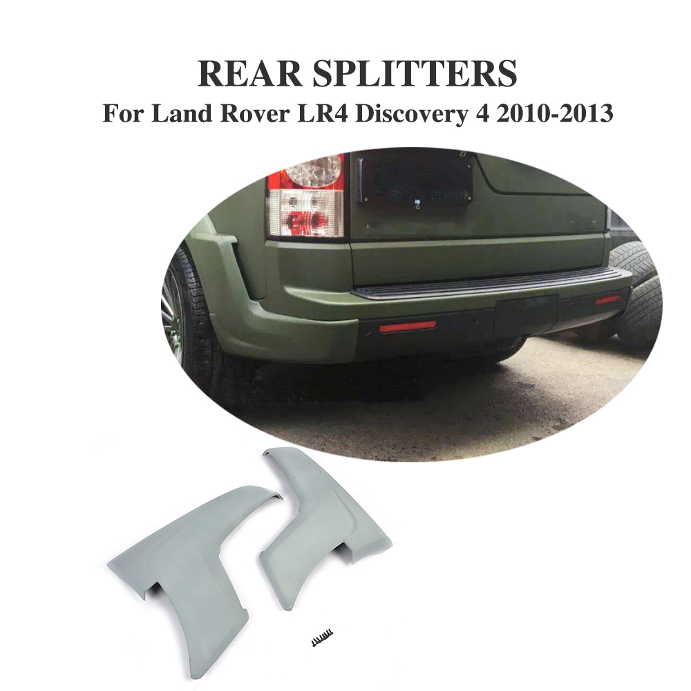 Car Rear Bumper Splitters Lip Aprons for Land Rover LR4 Discovery 4 Sport Utility 4 Door 2010 2013 PU UNpainted Gray Primer