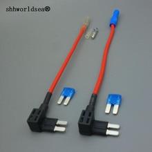shhworldsea 1set 12/24V Add Circuit 8MM Blade Fuse Boxes Holder ATO ATC Piggy Back Tap цены онлайн
