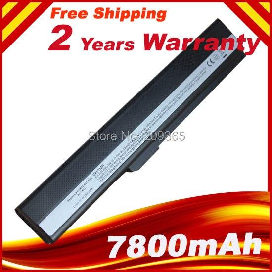 где купить 7800mAh laptop battery for Asus A31-B53 A32-K52 A31-K52 A41-K52 A42-K52 K52L681 A42f A42j A52J A52f A52D F85 F86 K42 K52J K42J по лучшей цене