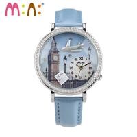 Fashion Handmade POLYMER CLAY M N Korea Mini Diamond Quartz Watches Women Dress Children Cartoon WristWatch