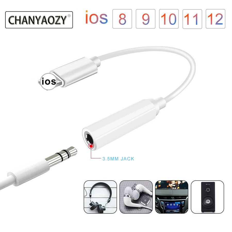 Music Headphone Adapter For IPad IPhone 6 6s 7 8 PLUS X XS XR AUX Adapter For Lightning Female To 3.5mm Male Adapters Jack Cable