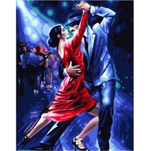 RIHE DIY Oil Painting By Numbers Kit For Dancing Lover, Modern Canvas Home Wall  Decor Picture, Acrylic Paint 40x50cm