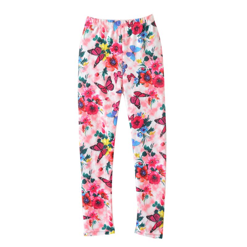 Spring Kids Baby Girls Leggings Kids Leggings Girls Butterfly Flower Print Leggings