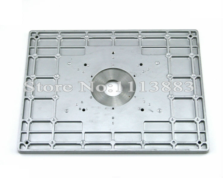 Aluminum router table insert plate for popular router models 3 keyboard keysfo Images