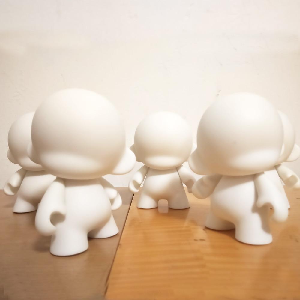 5 հատ 4 դյույմ Kidrobot munny սպիտակ սև DIY - Խաղային արձանիկներ - Լուսանկար 2