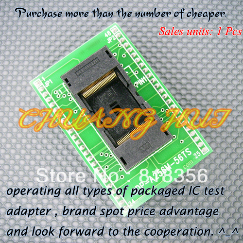 SDP-A256M-56TS Adapter LT-48XP/LT-48UXP/LT848 Programming Adapter TSOP56-DIP48 Adapter IC Test Socket 0.5mm Pitch