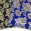 1Yad 91*140 см, 3D Металлик Жаккардовые Ткани Парчи, Большая Роза Зима Ткани для Платья Пальто Куртки швейные Ткани Tecido