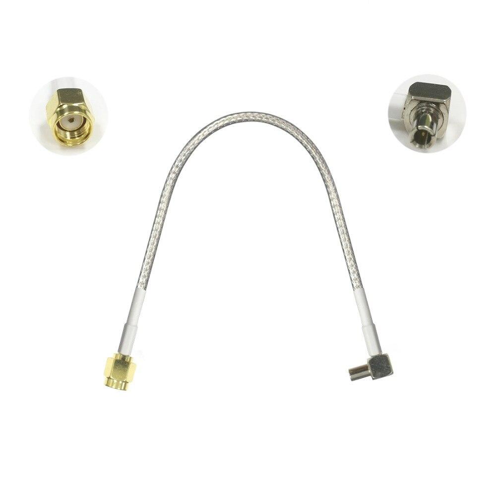 1 Stück 3g Modem Kabel Ts9 Männlichen Rechten Winkel Zu Rp Sma Stecker Zopf Rg316/rg174 15 /30/50/100 Cm Neue Großhandel Preis
