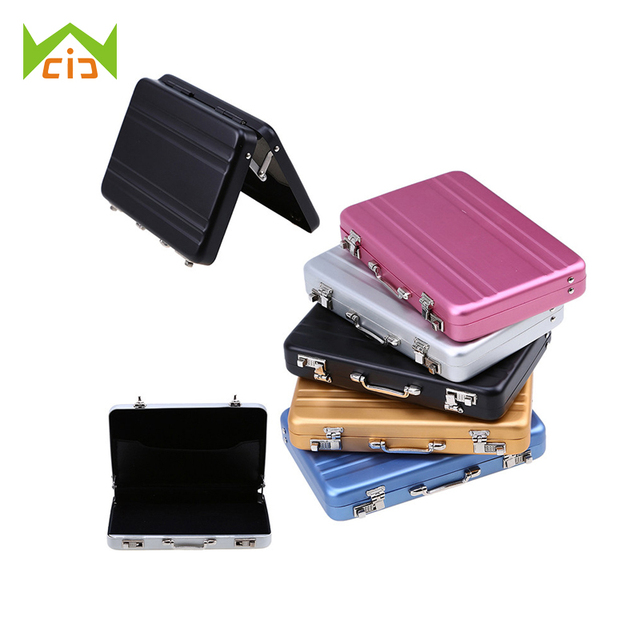 Wcic business card storage box aluminium rectangle briefcase name wcic business card storage box aluminium rectangle briefcase name cards holders credit card containers rangement colourmoves