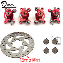 Buy For ZOOM Disc Brake for Electric scooter 10 inch electric  With 140 mm 120mm brake pads metal pad Brake Rotor Bike parts directly from merchant!