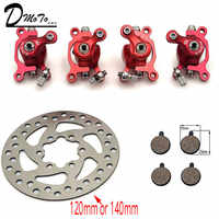 For ZOOM Disc Brake for Electric scooter 10 inch electric With 140 mm 120mm brake pads metal pad Brake Rotor Bike parts