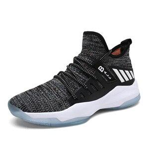 Image 2 - איש גבוהה למעלה ירדן כדורסל נעלי לנשימה Nonslip סניקרס גברים חדש סגנון עמיד הלם ירדן נעלי חיצוני טניס מאמני