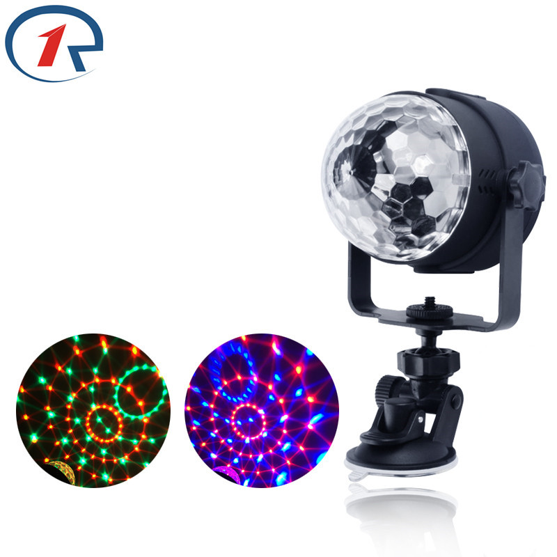 ZjRight RGB LED Crystal Magic Roterende kule scenelys USB 5V kontorbiler ktv DJ lampe disco party KTV Bar Lydkontrolllamper